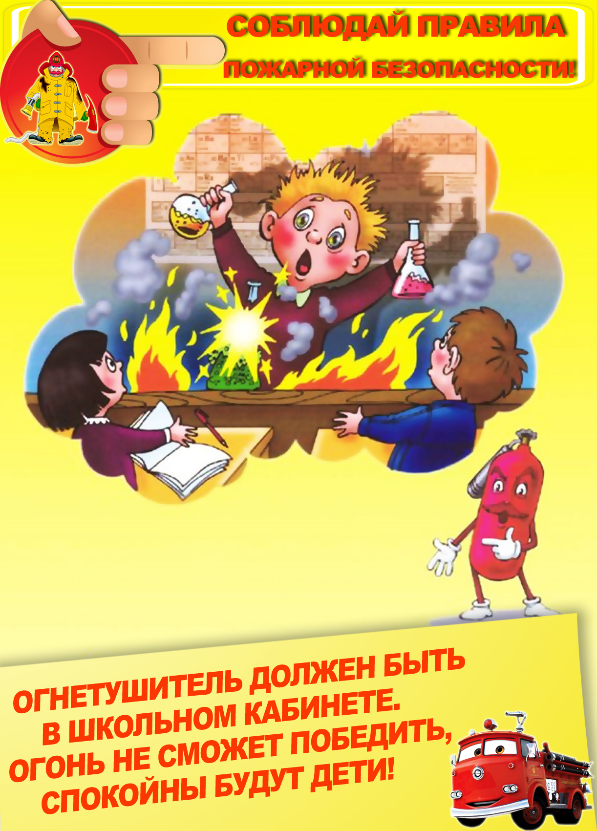 Правила использования огнетушителя